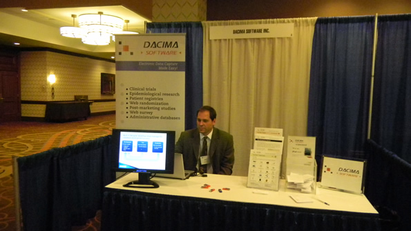 Dacima's booth for the SCT Annual Meeting in Boston