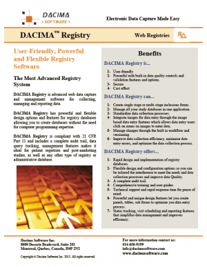 Dacima Registry Software Brochure
