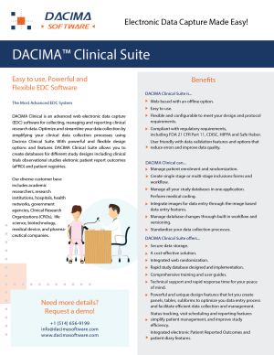 Download Dacima Clinical Suite Brochure